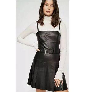 Free People Sweet Talk Vegan Leather Mini Dress